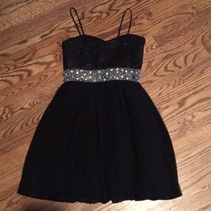 My Michelle black homecoming party dress